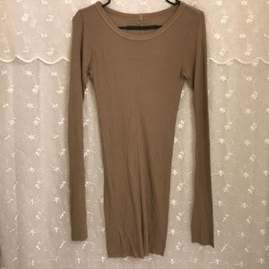 NWOT Enza Costa Ribbed Knit Mini Dress